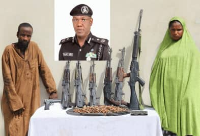 Police Arrests Female Armourer of Notorious kidnappers, Robbers, Gangs and Other Criminals.Recovered Arms and Ammunition